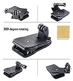 BEEM Camera【Amazon限定】360°回転式 クリップ マウント Clip Mount for GoPro HD Hero2 / Hero3 /Hero3+ + F.Wave製 オリジナル レザー調 MicroFiber レンズお手入れクロス ( 10×10cm ) セット GP 360GM (360℃ マウント)