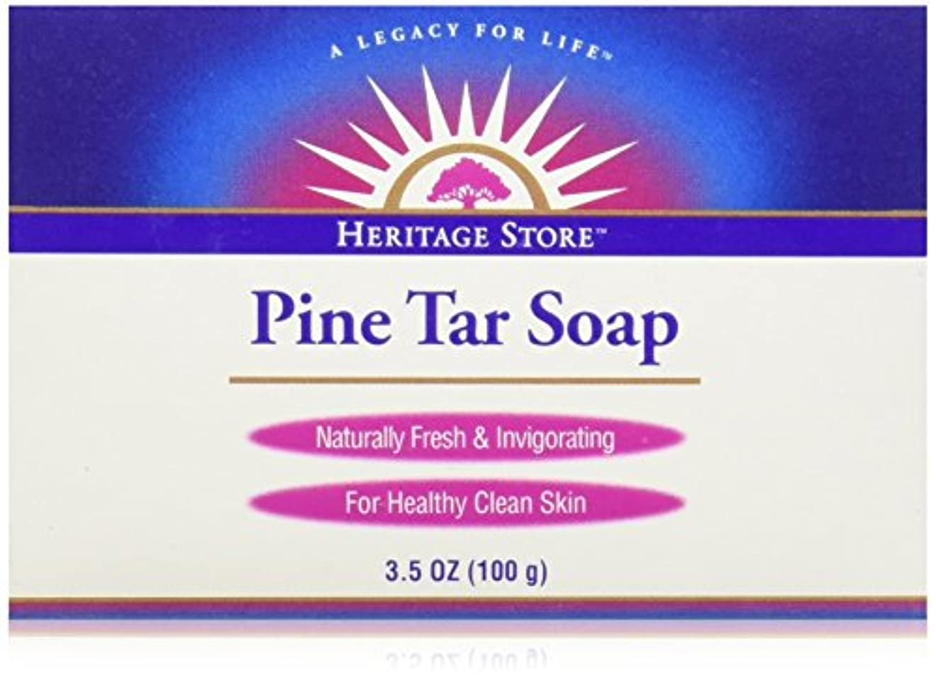 海外直送品Pine Soap Bar, 3.5 Oz by Heritage Products