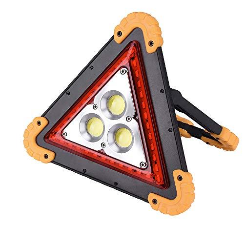 投光器 KBook 三角停止板 USB充電式 モバイルバッテリー機能 180度調整 折り畳み式 18650電池対応 単3電池4本対応 車緊急対応 故障標識 非常信号灯 夜釣り・キャンプ・防災対策