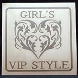 オリジナルステッカー GIRL's VIP STYLE (シルバー) SD-2008