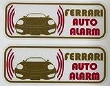 フェラーリ 360 モデナ セキュリティ ステッカー fe009os - 580 円