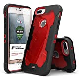 Zizo ジゾウ プロトンカバー iPhone7プラス用 Proton Cover iPhone 7 Plus Case [Military Grade Drop Tested] with FREE 0.3m 9H [Tempered Glass Screen Protector] Kickstand Holster Belt Clip ブラック/レッド Black / Red[並行輸入]