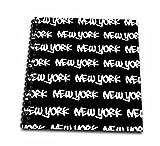 InspirationzStoreタイポグラフィ–新しいYorkテキストデザイン–ホワイトWords onブラック–NY Cityお土産NYC Cool Urbanグラフィティフォントパターン–Drawing Book 8 by 8-Inch db_157615_1
