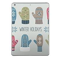 iPad mini mini2 mini3 共通 スキンシール retina ディスプレイ apple アップル アイパッド ミニ A1432 A1454 A1455 A1489 A1490 A1491 A1599 A1600 タブレット tablet シール ステッカー ケース 保護シール 背面 人気 単品 おしゃれ その他 冬 手袋 雪 結晶 007505