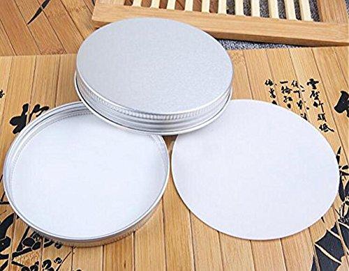 12PCSラウンドメタルアルミ化粧ケース - メイクアップジュエリーストレージコンテナボックスポットジャー (100G)