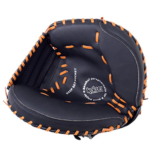 カイザー(kaiser) 軟式 キャッチャー ミット KW-340 野球 練習 ピッチング 一般用 レジャー ファミリースポーツ
