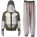 BESPORTBLE Professional Outdoor Mosquito Suit, 1Set Breathable Mesh Jacket with Hood and Pants - Net Clothing Protection from