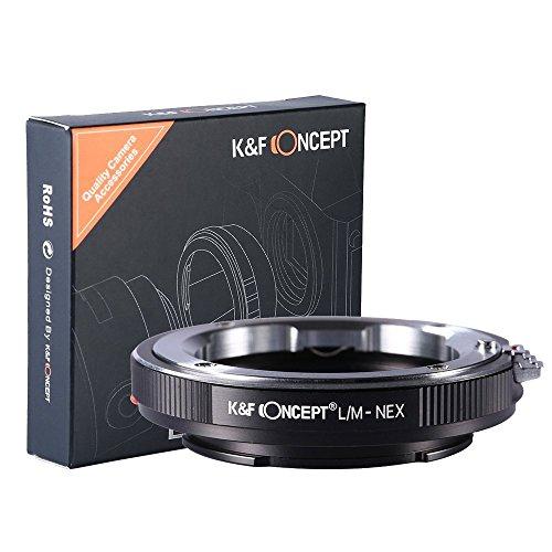 K&F Concept® マウントアダプター Leica Mレンズ- Sony Alpha Nex Eカメラ装着用レンズアダプターリング LM-NEXマウントレンズ