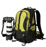 TMJJ メンズレディーズ カメラバッグ リュック DSLR専門性な一眼レフ 大容量 多機能 防水耐衝撃 アウトドア 旅行 トラバル 三脚取付可 おしゃれ Canon Nikon Sony Nikon 男女兼用 出張用