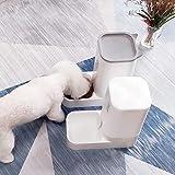 Pet Gravity Feeder and Water Combination 2 Piece Set Suit Cat Dog Puppy Kitten