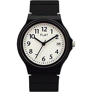 [FLAT]フラット 腕時計 3針 デイト Y01217S-1 BK/WH