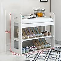 木製靴ラックベンチシングルレイヤーホルダーオーガナイザー快適なシートストレージシェルフ廊下居間用多機能シェルフ(50/70 * 30×60cm)