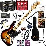 Squier エレキベース 初心者 入門 指板のブロックインレイが特徴的なジャズベース VOX Pathfinder BASS10とVOXのマルチエフェクターが入ってる完璧21点セット Classic Vibe '70s Jazz Bass/3CS(3カラーサンバースト)