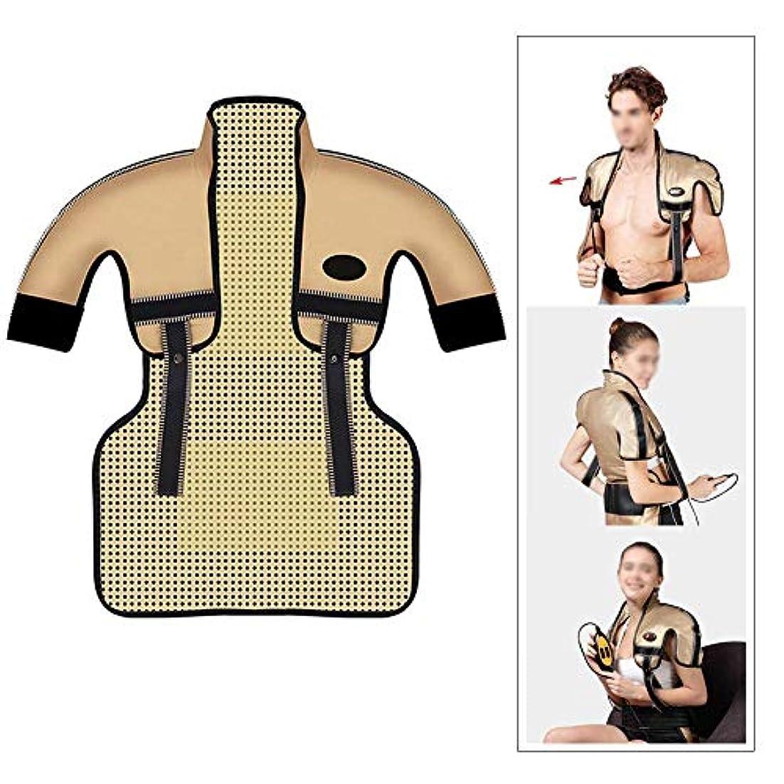 一杯指令請う肩と首の電気加熱パッド - 混練加熱、痛みを和らげるヒートパッド、医療用品マッサージベスト(肩幅用:35-50CM)