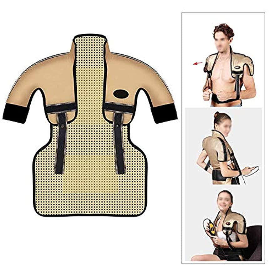 フラフープ教室乳製品肩と首の電気加熱パッド - 混練加熱、痛みを和らげるヒートパッド、医療用品マッサージベスト(肩幅用:35-50CM)