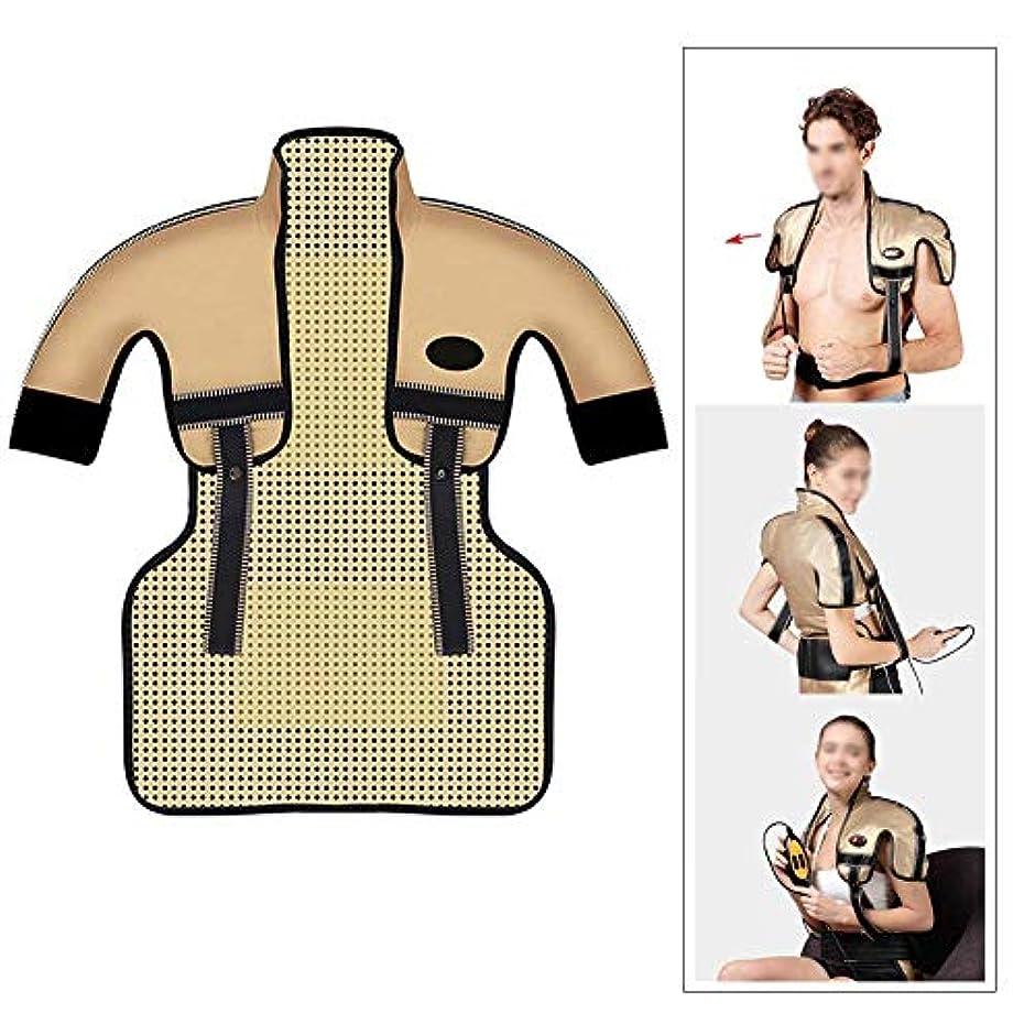 死傷者ダムチーズ肩と首の電気加熱パッド - 混練加熱、痛みを和らげるヒートパッド、医療用品マッサージベスト(肩幅用:35-50CM)