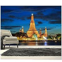 """カスタム3D大壁画、豪華で美しい堂々とした寺院、リビングルームのテレビの背景の寝室の壁の壁紙-300cm(W)x 200cm(H)(9'10""""x 6'7"""")ft"""
