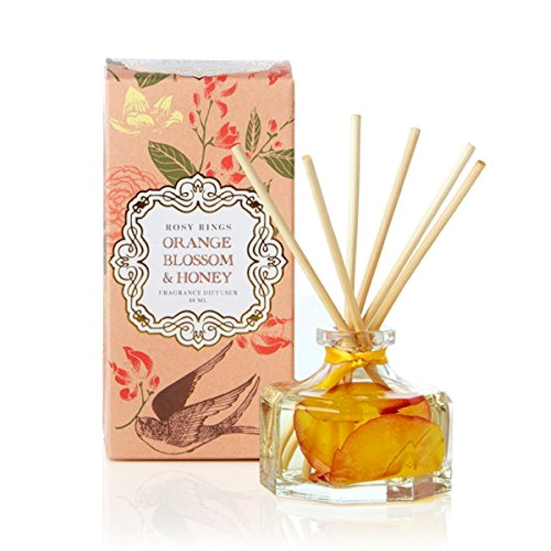 成果車一方、ロージーリングス プティボタニカルリードディフューザー オレンジブロッサム&ハニー ROSY RINGS Petite Botanical Reed Diffuser Orange Blossom & Honey