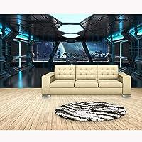 caomei 大型現代壁紙壁画ステッカー宇宙船写真の壁紙パペルデパレデ3Dキッズルーム自己接着ビニール/シルクの壁紙@ 1