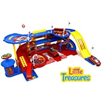 Little Treasures Toy Fire Station Command Emergency Vehicle Unit Set [並行輸入品]