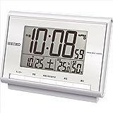 セイコー 温・湿度表示付電波目覚まし時計 【おき型 置型 卓上 せいこー デジタル seiko カレンダー アラーム 電波時計 温度 湿度 温湿度 F7106-02】