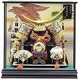 五月人形 兜ケース入り【彫金 伊達政宗】12号 幅47cm[195to1018] 端午の節句
