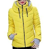 XFentech Winter Women's Collar Outdoor Jacket Short Down Cotton Coat Stand