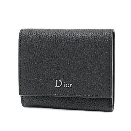 Dior Homme ディオールオム 2DSBC060 TAF 00NU レザー 三つ折り財布 小銭入れ付き ミニ財布 豆財布 カラーH00N/Noir [並行輸入品]
