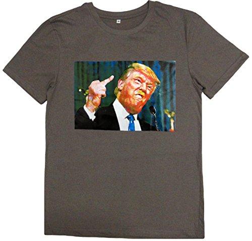 おもしろ パロディ 半袖 Tシャツ 怒りのドナルド・トランプ Donald Trump Thug Life (Mサイズ)