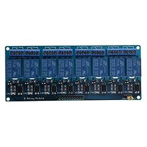 リレーモジュール,SODIAL(R)5V 8チャンネルリレーモジュールボード ArduinoPIC AVR MCU、DSP ARM電子