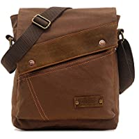 Vintage Canvas Messenger Bags for Mens Shoulder Bag Crossbody Bag Satchel Bag Travel School Book Bag iPad Laptop Bag