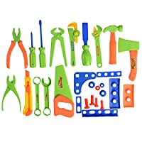 XADP 27 Piece Kids Toys Tool Set, Educational Construction Tool Sets Pretend Play Toys