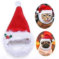 FidgetGear 犬のためのクリスマス帽子ペット猫クリスマス赤の休日の衣裳サンタ帽子の帽子の服 赤