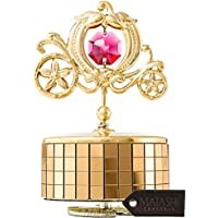 "Matashi 24k Gold Plated Princess Carriage Music Box""Love Story"" 