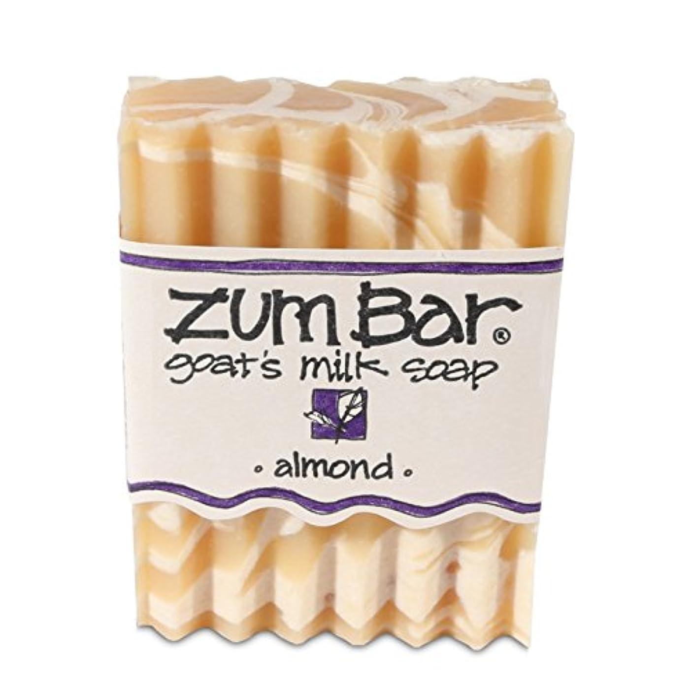 見ました構造指定海外直送品 Indigo Wild, Zum Bar, Goat's ミルク ソープ アーモンド , 3 Ounces (2個セット) (Almond) [並行輸入品]