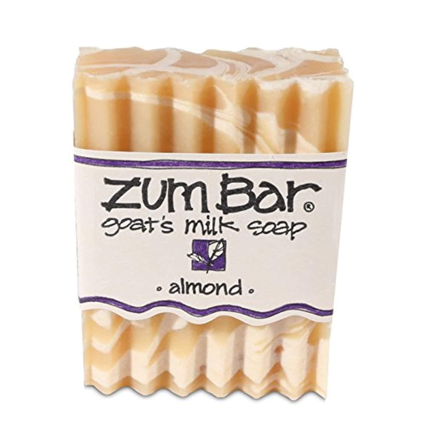 代替校長基本的な海外直送品 Indigo Wild, Zum Bar, Goat's ミルク ソープ アーモンド , 3 Ounces (2個セット) (Almond) [並行輸入品]