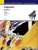 カプースチン: ソナチネ Op.100/生誕80年記念特別版/川上昌裕による序文付(英語)/ショット・ミュージック社/ピアノ・ソロ
