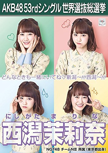 【西潟茉莉奈】 公式生写真 AKB48 Teacher Te...