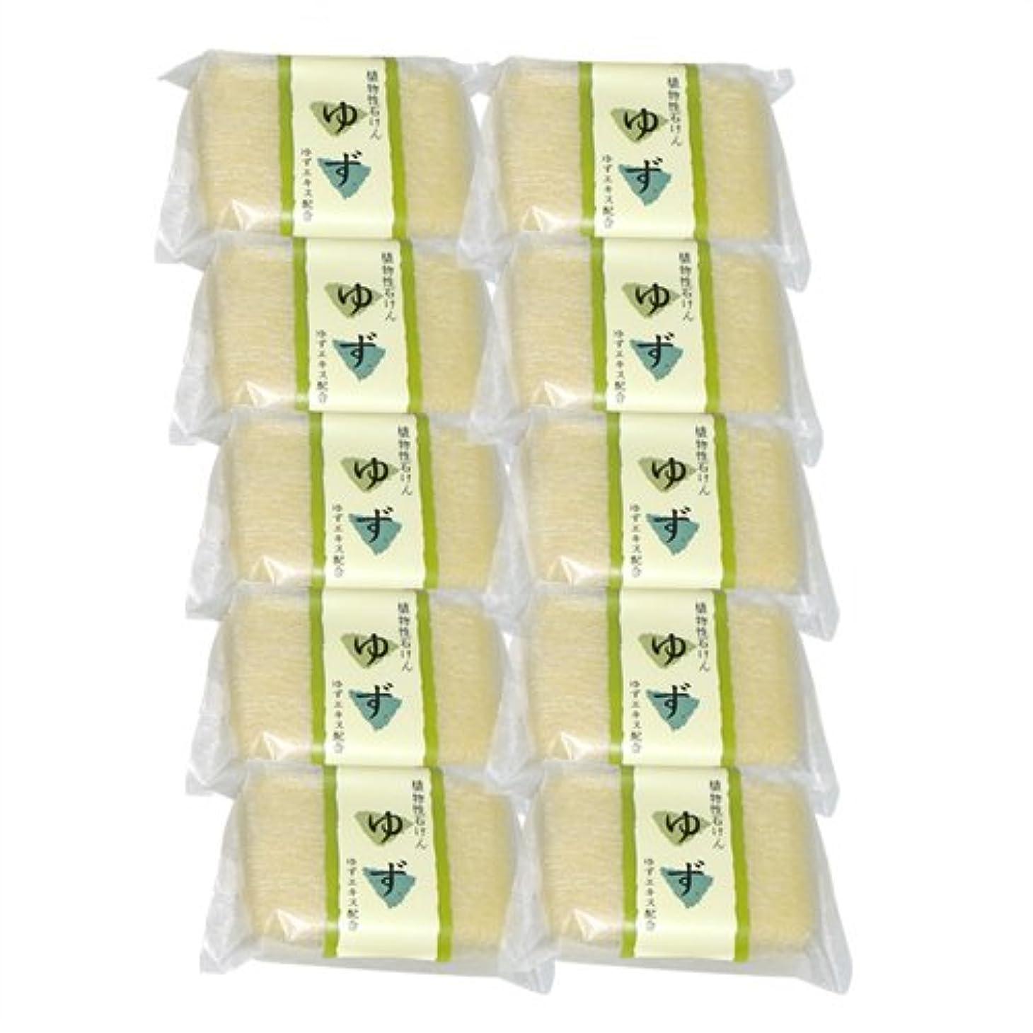 スイトーンバーマド植物性ソープ 自然石けん ゆず 80g×10個セット