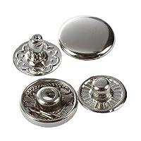 SODIAL(R)50×金属プッシュボタンプッシュボタンリベットボタンボタンボタンリベットトレンド