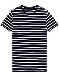 スコッチ&ソーダ Tシャツ SCOTCH&SODA Basic T-Shirt ネイビーボーダー 292-54433 メンズ 半袖 総柄 カットソー トップス
