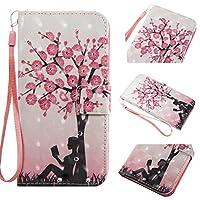 iPhone8 Plus ケース 手帳型 [桜の木] さくら 幸運 反射玉 BRAVODAY iPhone8 Plus ケース 財布型 ナチュラル感 手作り高級PUレザー 防塵 耐衝撃 耐汚れ 全面保護 マグネット機能 スタンド機能 人気 カード収納 –桜の木