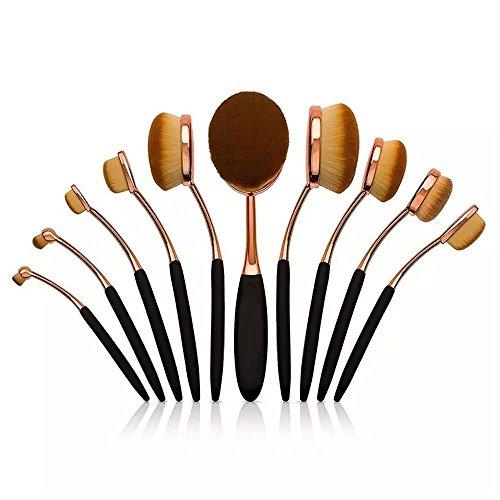 Melo メイクブラシ 10本セット 歯ブラシ型 ファンデーションブラシ メイクアップブラシ アイライナー化粧ブラシ コスメ 化粧