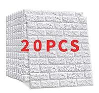 CHUFANG壁紙 レンガ 60x60cm 3D 壁紙シール DIY 剥がせる 防音 防水 断熱 クッションタイプ 壁紙シール 自己粘着 防水 (20枚)