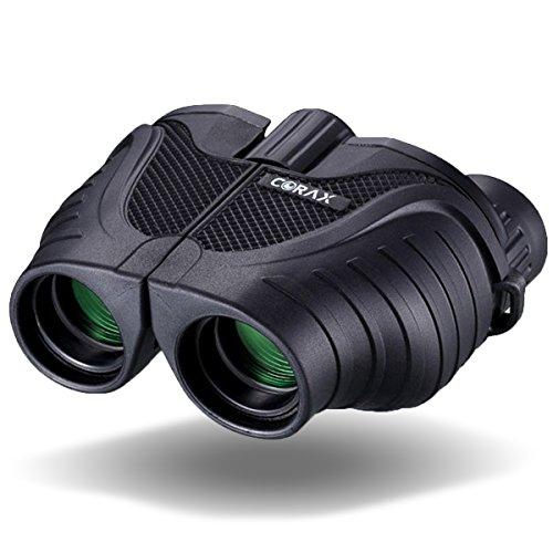 CORAX 双眼鏡 10×25 小型折りたたみ式 FMC搭載 BaK4プリズムレンズで高画質を実現 ポロプリズム式 10倍25mm有効径