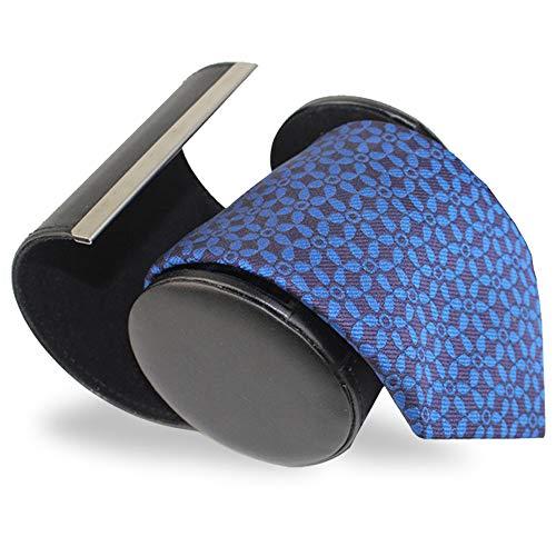 Masmo ネクタイ収納ケース ネクタイボックス(円筒型)マグネットタイプ 開閉式 ネクタイケース 収納/出張/旅行に/黒