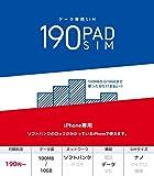 b-mobile S 190PadSIM for iPhone (ナノSIMパッケージ) BS-IPN-PSDN