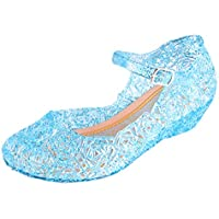 Vokamara Princess Girls Sandals Jelly Mary Jane Dance Party Cosplay Shoes for Kids Toddler