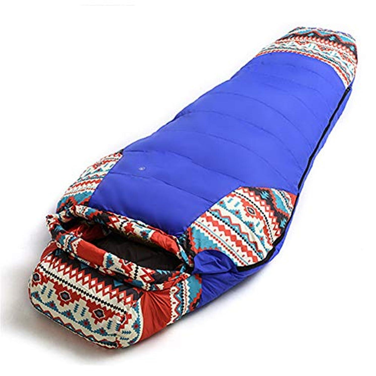 資格テーブルを設定する骨髄寝袋 国民的スタイル ミイラ 冬 キャンプ 旅行する アウトドア 成人 シングル