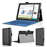 wisers 保護フィルム・OTGケーブル・タッチペン付 Microsoft Surface 3 タブレット 専用 ケース カバー ブラック